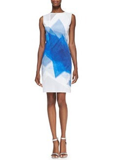 Elie Tahari Alyssa Sleeveless Geometric Python-Print Dress