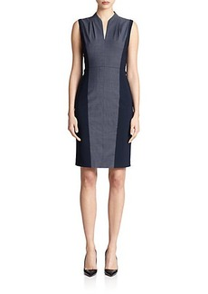 Elie Tahari Amabel Colorblock Dress