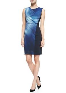 Elie Tahari Amymarie Sleeveless Swirl-Front Dress