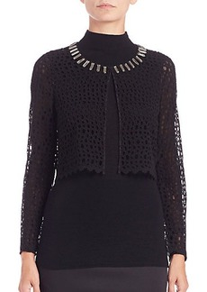 Elie Tahari Anabel Lace Jacket