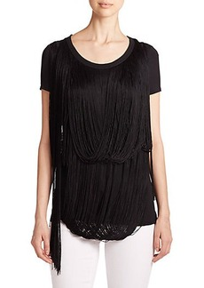 Elie Tahari Anais Fringed Top
