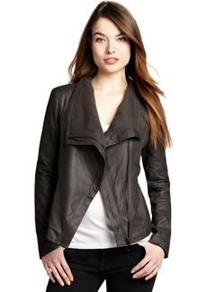 Elie Tahari 'Andreas'- tusk lambskin asymmetrical zip jacket