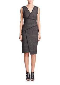 Elie Tahari Angela Paneled-Tweed Dress