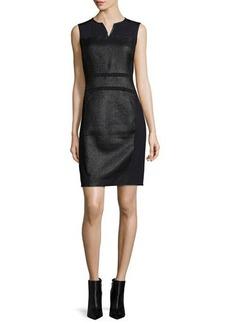Elie Tahari Anya Sleeveless Coated Tweed Sheath Dress  Anya Sleeveless Coated Tweed Sheath Dress