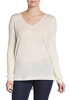 Elie Tahari Ariel Gathered Back Cashmere & Silk Sweater