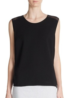 Elie Tahari Ashley Chain-Detailed Top