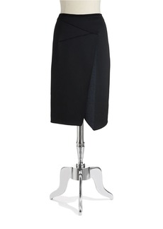ELIE TAHARI Asymmetrical Scuba Skirt