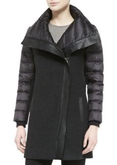 Elie Tahari Audrey Long Combo Puffer Coat