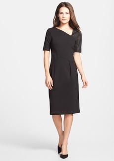 Elie Tahari 'Audrey' Mesh Detail Sheath Dress