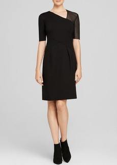 Elie Tahari Audrey Mixed Media Dress