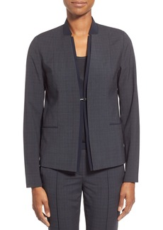 Elie Tahari 'Ava' Solid Inset Plaid Jacket