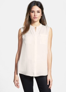 Elie Tahari 'Avanti' Sleeveless Silk Blouse with Stretch Modal Back
