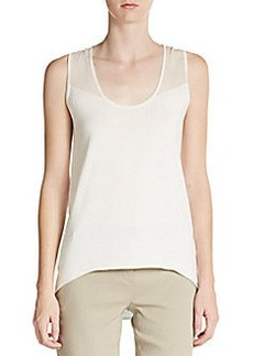 Elie Tahari Avonna Hi-Lo Sweater Top