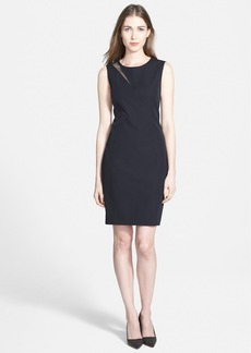 Elie Tahari 'Axel' Mesh Inset Sheath Dress