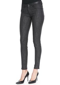 Elie Tahari Azella Coated Tweed Skinny Jeans