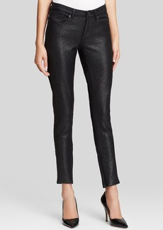 Elie Tahari Azella Jeans in Black Coated Tweed