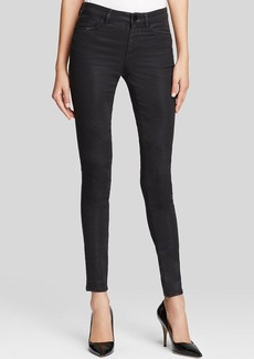 Elie Tahari Azella Jeans in Black Coated Wax