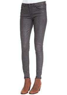 Elie Tahari Azella Leather-Coated Jeans