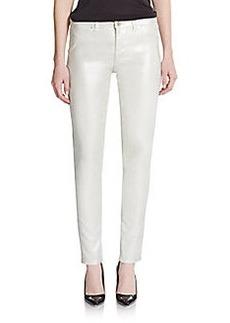 Elie Tahari Azella Metallic Coated Skinny Jeans