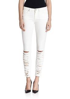 Elie Tahari Azella Shredded Skinny Jeans