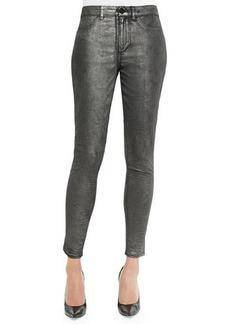Elie Tahari Azella Skinny Ankle Jacquard Jeans, Gunmetal