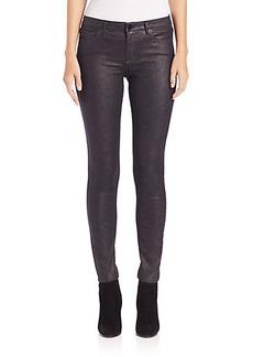 Elie Tahari Azella Snake-Coated Jeans