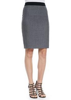Elie Tahari Bennet Stretch Flannel Pencil Skirt