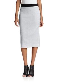 Elie Tahari Bennett Contrast-Waist Skirt