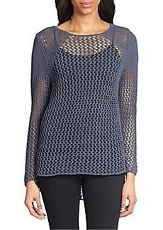 Elie Tahari Benny Open Knit Sweater