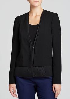 Elie Tahari Bernice Mesh Trim Jacket
