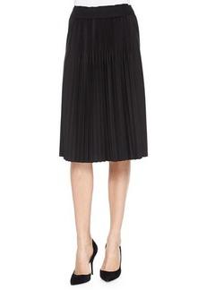 Elie Tahari Bethany Pleated Skirt, Black