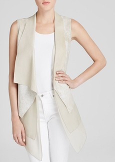 Elie Tahari Betsy Draped Leather Vest