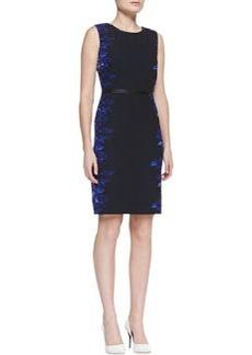 Elie Tahari Beverly Digital-Print Sheath Dress