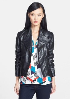 Elie Tahari 'Beverly' Genuine Leather Asymmetrical Zip Jacket