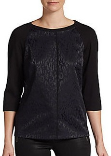 Elie Tahari Bianca Animal-Print Jersey Top