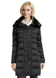 Elie Tahari black box quilted 'Christina' fur collar down jacket