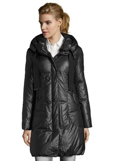Elie Tahari black quilted 'Lisa' down hooded coat