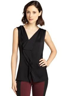 Elie Tahari black semi-sheer silk sleevless 'Melody' blouse