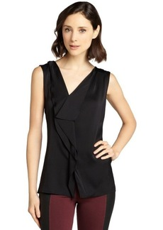 Elie Tahari black semi-sheer silk sleevless 'Melody' blouse