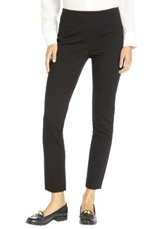 Elie Tahari black stretch woven straight leg 'Nina' pants