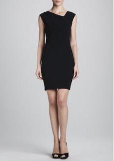Elie Tahari Brinson Asymmetric-Neck Dress