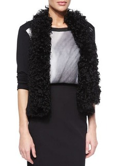 Elie Tahari Brooke Curly Shearling Fur Vest  Brooke Curly Shearling Fur Vest