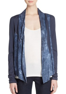 Elie Tahari Caleigh Mixed-Media Jacket