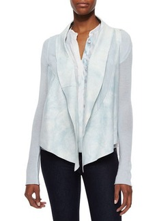 Elie Tahari Caleigh Watercolor Suede-Front Jacket