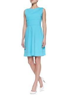 Elie Tahari Callie Sleeveless Flared-Skirt Dress