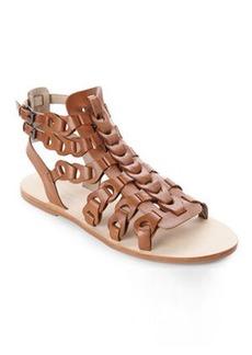 elie tahari Camel Artisan Sandals