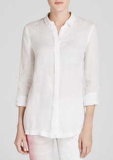 Elie Tahari Carly Linen Blouse