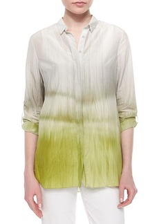 Elie Tahari Carly Printed Pleated-Back Blouse  Carly Printed Pleated-Back Blouse