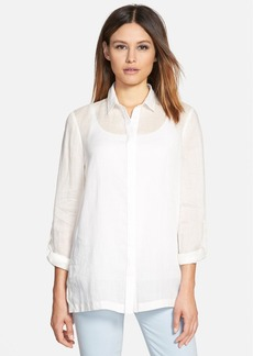 Elie Tahari 'Carly' Roll Sleeve Blouse