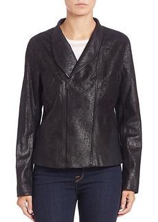 Elie Tahari Carmen Asymmetrical Leather Jacket